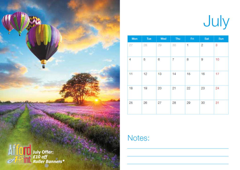Branded Calendars, Business and product promotion.