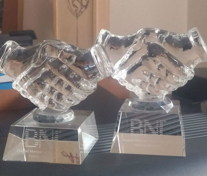 BNI member of the year 2014 & 2015 (Uplands Chapter)